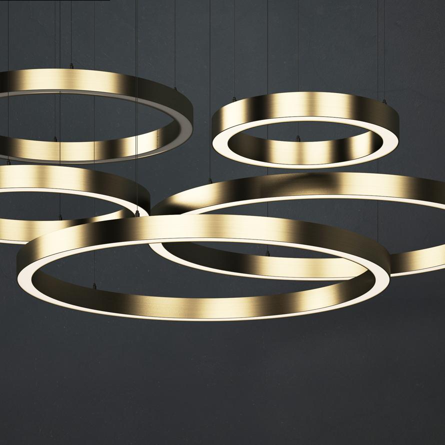 Светодиодное освещение Светодиодные подвесные кольцевые светильники